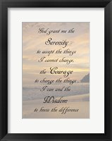 Framed Serenity Prayer - landscape