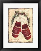 Framed Merry Mittens