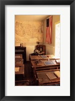 Framed Early American School Room