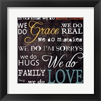 Grace And Love Framed Print