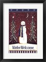 Framed Winter Welcome