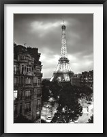 Framed Eiffel Tower Evening