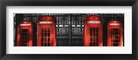 Framed Red Telephone Boxes, London