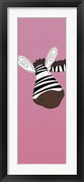 Framed Zebra on Pink
