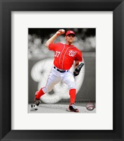 Framed Stephen Strasburg 2012 Spotlight Action