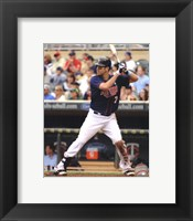 Framed Joe Mauer 2012 batting