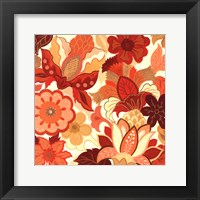 Framed Vermillion Garden I