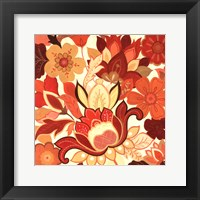 Framed Vermillion Garden II