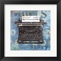 Write Story Framed Print