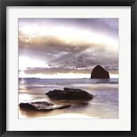 Framed Sunset At Trebarwith Strand