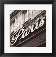 Newsprint Paris Framed Print