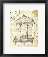 Framed Bird Cage IV