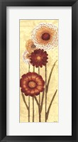 Framed Happy Flowers Neutral Panel I