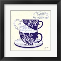 Blue Cups III Framed Print