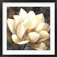 Framed Magnolia Blossom Turquoise