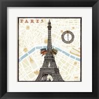 Framed Monuments des Paris Eiffel