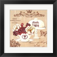 Parisian Flowers I Framed Print