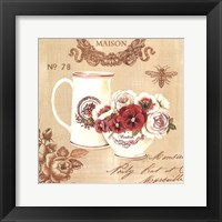 Parisian Flowers III Framed Print