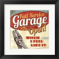 Framed Mancave I - Full Service Garage