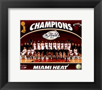 Framed Miami Heat 2012 NBA Champions Team Photo
