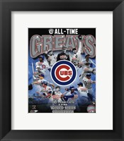 Framed Chicago Cubs All Time Greats Composite