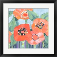 Framed Poppin Poppies II
