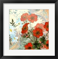 Framed Summer Poppies II