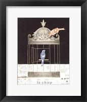 La Chirp Framed Print