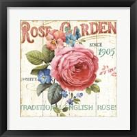 Framed Rose Garden I
