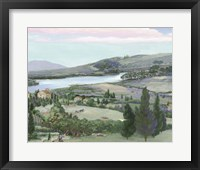 Framed Lavender Tuscany I
