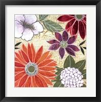 Framed Vintage Floral I