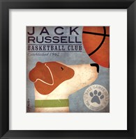 Framed JackRussell Basketball