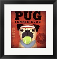 Framed Pug Tennis Club
