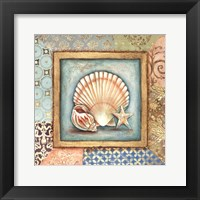 Ocean Treasures Bath I Framed Print