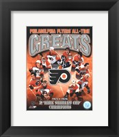Framed Philadelphia Flyers All-Time Greats Composite