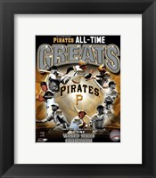 Framed Pittsburgh Pirates All-Time Greats