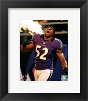 Framed Ray Lewis 2012 Action