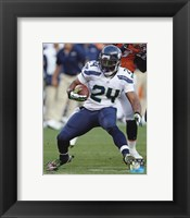 Framed Marshawn Lynch 2012 Action
