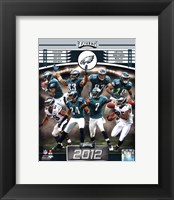 Framed Philadelphia Eagles 2012 Team Composite
