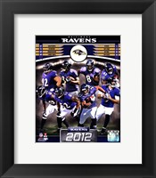 Framed Baltimore Ravens 2012 Team Composite