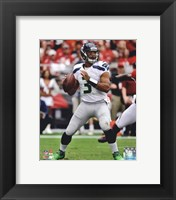 Framed Russell Wilson 2012 Action