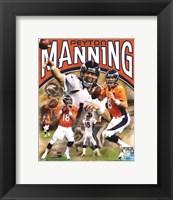 Framed Peyton Manning 2012 Portrait Plus