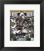 Framed St. Louis Rams 2012 Team Composite