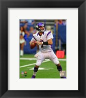 Framed Christian Ponder 2012 football