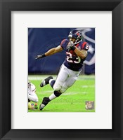 Framed Arian Foster Football Field Action