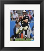Framed Drew Brees Passing The Football