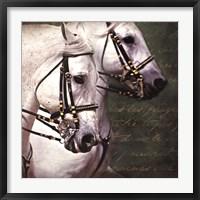 Framed Carousel Horses