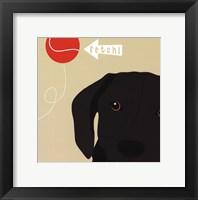 Peek-A-Boo Labrador Framed Print