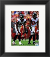 Framed Julio Jones & Roddy White 2012 Action