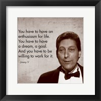 Enthusiasm for Life, Jimmy V Framed Print